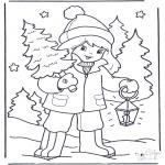 Inverno - Rapariga com árvore