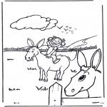 Animais - Rapariga com burro