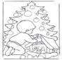 Rapaz com árvore de Natal