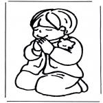 Pinturas bibel - Rapaz rezando