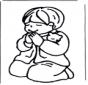 Rapaz rezando