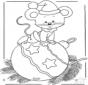Rato com decorações de Natal