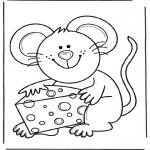 Animais - Rato com queijo