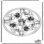 Pinturas Mandala - Rato mandala 2