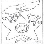 Animais - Rato na estrela do Natal
