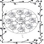 Pinturas Mandala - Rosas mandala 2