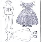 Ofícios - Roupas - boneca de papel 1