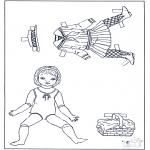 Ofícios - Roupas - boneca de papel 2