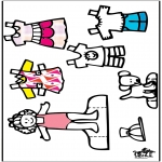 Ofícios - Roupas - boneca de papel 3
