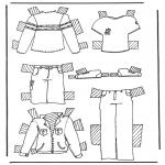 Ofícios - Roupas de boneca de papel 2