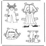 Ofícios - Roupas de boneca de papel 3