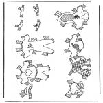 Ofícios - Roupas de boneca de papel 4