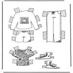 Ofícios - Roupas de boneca de papel 5