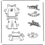 Ofícios - Roupas de boneca de papel 7