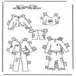Ofícios - Roupas de boneca de papel
