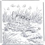Animais - Tartaruga com duende