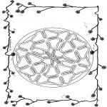 Pinturas Mandala - Trevo de quatro folhas mandala