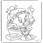 Personagens de banda desenhada - Tweety no banho