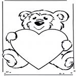 Todos os tipos de - Urso com coração