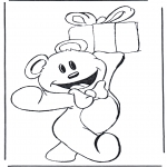Tema - Urso com presente