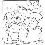 Inverno - Urso na neve