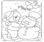 Urso na neve