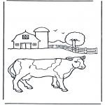 Animais - Vaca na quinta