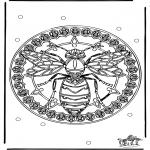 Pinturas Mandala - Vespa mandala