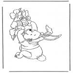 Personagens de banda desenhada - Winnie The Pooh Coelhinho de Páscoa