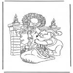 Personagens de banda desenhada - Winnie The Pooh Pai Natal