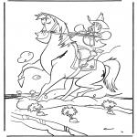 Personagens de banda desenhada - Xerife a cavalo