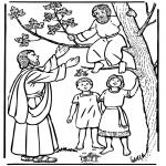 Pinturas bibel - Zaqueo e Jesus